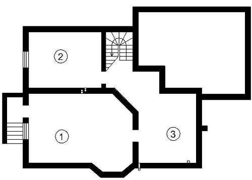 План цокольного этажа (подвала) мансардного дома 327 кв.м