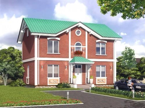 Общий вид проекта двухэтажного дома 172 кв.м