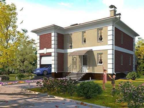 Общий вид проекта двухэтажного дома 259 кв.м