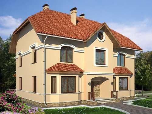 Общий вид проекта двухэтажного дома 232 кв.м