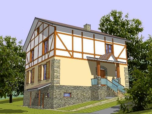 Общий вид проекта дома 283 кв.м