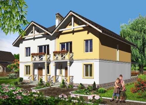 Общий вид проекта дома двухэтажного 249 кв.м