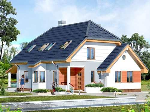 Общий вид проекта мансардного дома 226 кв.м