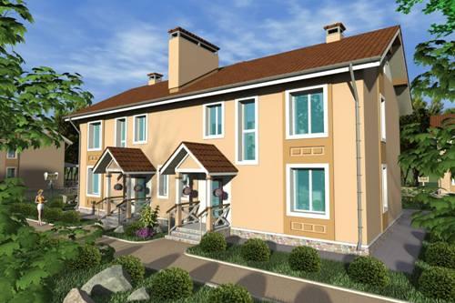 Общий вид проекта двухэтажного дома 281 кв.м