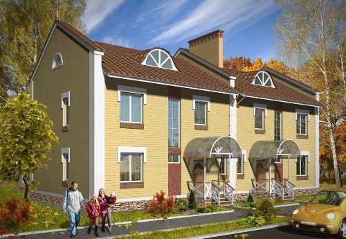 Общий вид проекта двухэтажного дома 275 кв.м