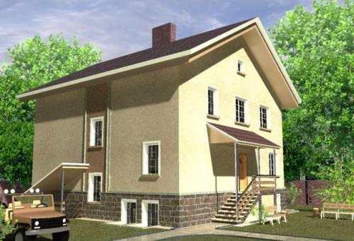 Общий вид проекта двухэтажного дома 264 кв.