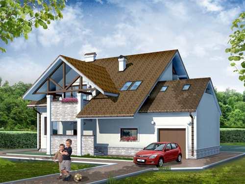Общий вид проекта дома 291 кв.м