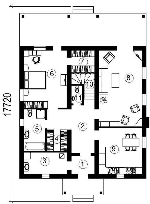 План 1 этажа