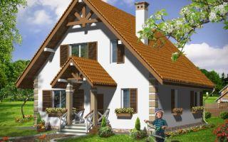 Проект дома с мансардой 114 кв.м — 101-114