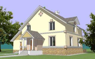 Проект мансардного дома 218 кв.м — 103-218