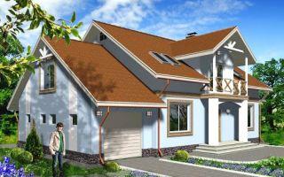 Проект мансардного дома 221 кв.м — 101-221