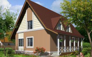 Проект дома мансардой 127 кв.м — 101-127
