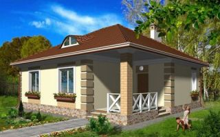 Проект одноэтажного дома 68 кв.м — 102-068