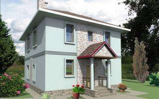 Проект двухэтажного дома 130 кв.м. — 108-130
