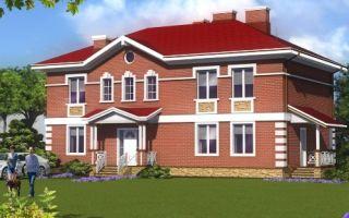 Проект двухэтажного дома 293 кв.м — 101-293
