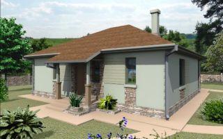 Проект одноэтажного дома 74 кв.м — 103-074