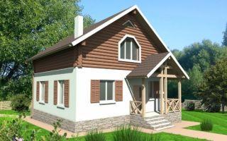 Проект дома с мансардой 110 кв.м — 105-110