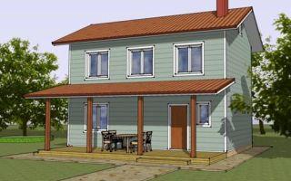 Проект двухэтажного дома 73 кв.м — 104-073