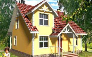 Проект мансардного дома 144 кв.м — 101-144