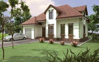 Проект мансардного дома 185 кв.м — 102-185