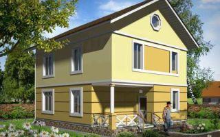 Проект двухэтажного дома 130 кв.м — 104-130