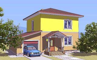 Проект двухэтажного дома 112 кв.м — 105-112