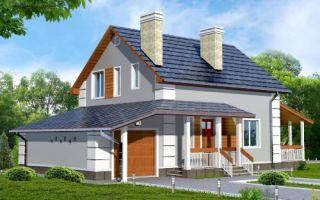 Проект мансардного дома 140 кв.м — 103-140