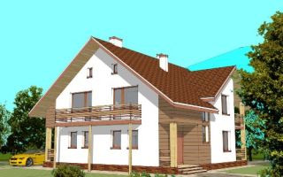 Проект мансардного дома 235 кв.м — 102-235