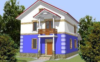 Проект двухэтажного дома 145 кв.м — 106-145