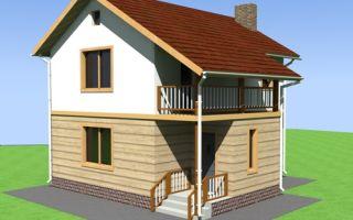 Проект двухэтажного дома 71 кв.м — 102-071