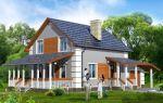 Проект мансардного дома 140 кв.м — 106-140