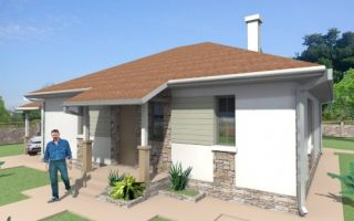 Проект одноэтажного дома 74 кв.м — 102-074