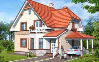 Проект мансардного дома 130 кв.м — 105-130