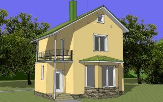 Проект двухэтажного дома 82 кв.м — 102-082