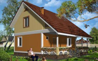 Проект дома с мансардой 77 кв.м — 102-077