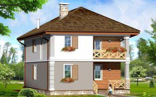 Проект двухэтажного дома 123 кв.м — 103-123