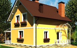 Проект мансардного дома 95 кв.м — 101-095
