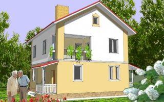 Проект двухэтажного дома 138 кв.м — 105-138