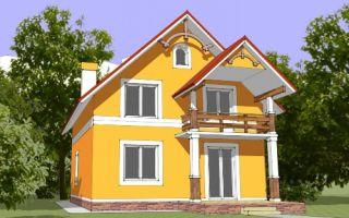 Проект мансардного дома 135 кв.м — 103-135