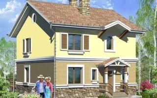 Проект двухэтажного дома 142 кв.м — 107-142