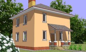Проект двухэтажного дома 128 кв.м. — 102-128