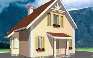 Проект дома с мансардой 69 кв.м — 101-069