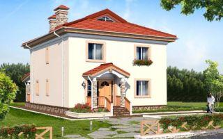 Проект двухэтажного дома 169 кв.м — 106-169