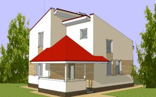 Проект мансардногоо дома 67 кв.м — 101-067