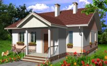 Проект одноэтажного дома 86 кв.м — 101-086