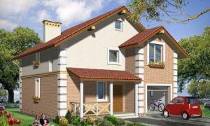Проект дома с мансардой 121 кв.м — 102-121