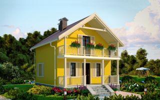 Проект дома с мансардой 66 кв.м — 101-066