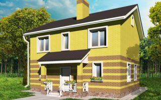 Проект двухэтажного дома 130 кв.м — 103-130