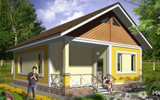Проект одноэтажного дома 62 кв.м — 101-062