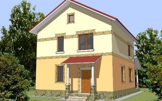 Проект двухэтажного дома 145 кв.м — 105-145